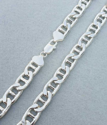 Sterling silver heavy anchor chain for men