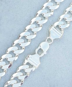 Sterling silve rheavy 1.2cm wide curb chain
