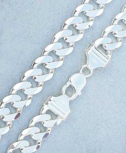 Sterling silve rheavy 1.2cm wide curb chain