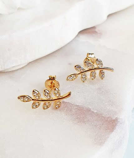Delicate 9ct Yellow Gold nature inspired Earrings