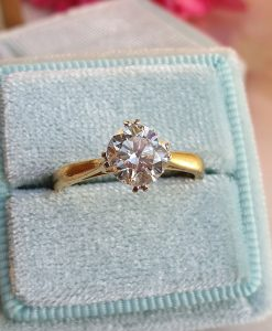 Vintage Diamond engagement ring 1ct