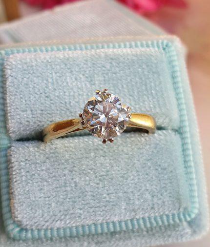 Vintage Diamond engagement ring 1ct