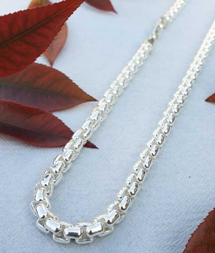sterling silver rolo links necklace