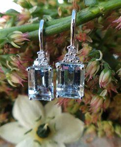 Magnificent 18ct White Gold Aquamarine & Diamond EarringsMagnificent 18ct White Gold Aquamarine & Diamond Earrings